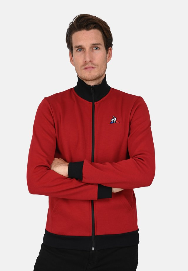 veste en sweat zippée - red