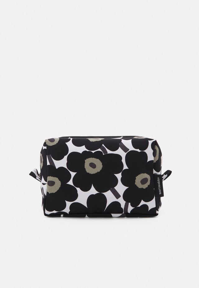 VILJA MINI UNIKKO COSMETIC BAG - Wash bag - white/black