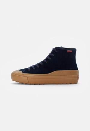 SQUARE RIPPLE HIGH - High-top trainers - navy blue