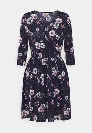 ONLPELLA 3/4 WRAP SHORT DRESS - Jersey dress - night sky