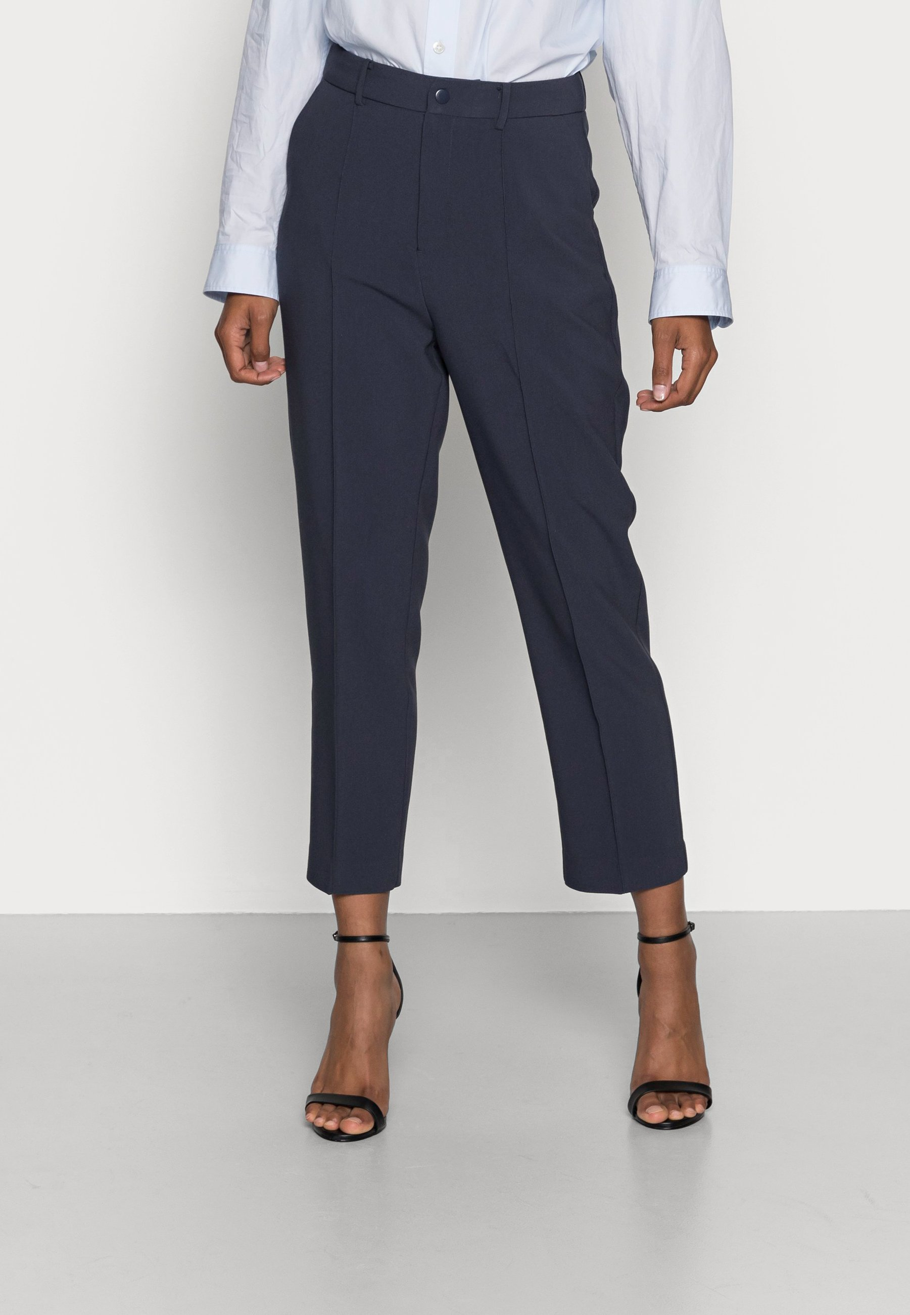 Women BASIC BUSSINESS PANTS WITH PINTUCKS  - Trousers