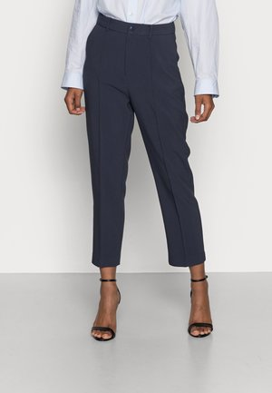 BASIC BUSSINESS PANTS WITH PINTUCKS  - Trousers -  dark blue