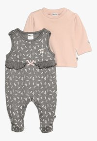 Jacky Baby - IN THE CLOUDS SET - Sleep suit - braun mélange/rosa - 0