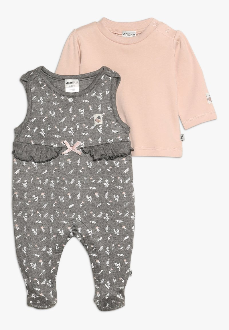 Jacky Baby - IN THE CLOUDS SET - Sleep suit - braun mélange/rosa