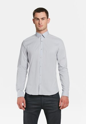 SLIM FIT STRETCH - Shirt - light grey