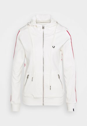 HOODED JACKET METAL HORSESHOE - Sudadera con cremallera - off white