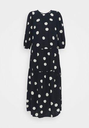 TIERED MIDI DRESS - Day dress - dark blue