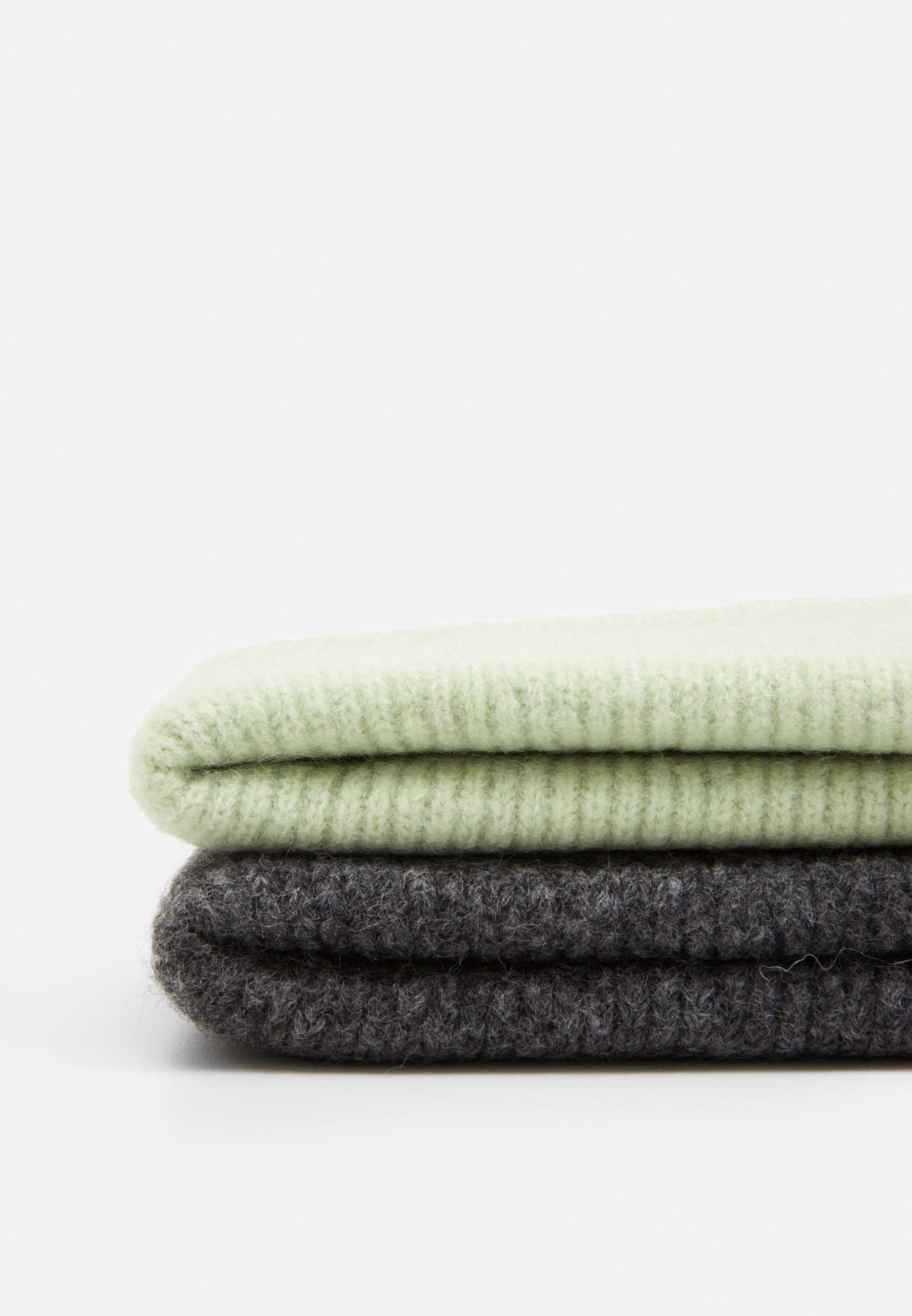 Monki VERA HAT 2PACK - Lue - sage green/light grey/grønn tx5EOrrzRhJ73fX