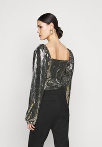 Missguided Tall - FOIL SEQUIN BODYSUIT - Blouse - black - 2