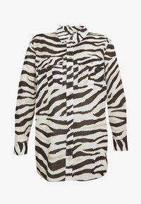 Lauren Ralph Lauren Woman - COURTENAY LONG SLEEVE - Skjorte - dark brown /multi - 4