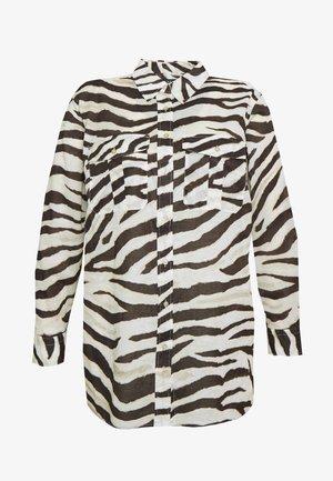 COURTENAY LONG SLEEVE - Button-down blouse - dark brown /multi