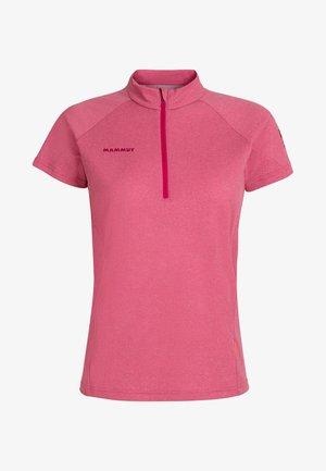 AEGILITY HALF ZIP - Basic T-shirt - pink