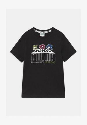 PUMA X SEGA UNISEX - Print T-shirt - black