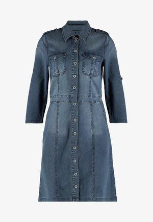 UNIFORM DRESS - Denim dress - royal navy blue