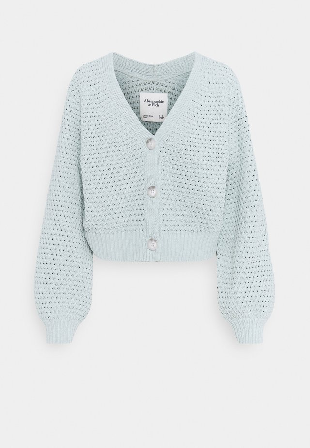 CHENILLE CORE LENGTH CARDI - Strickjacke - puritan grey