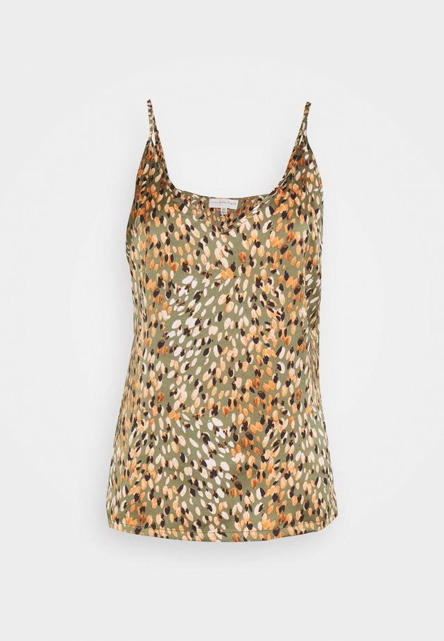 WILLOW PRINT CAMI - Linne - green