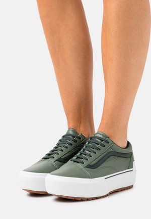 OLD SKOOL STACKED - Trainers - thyme/true white