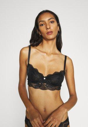 STEPHANIE NON PAD - Balconette bra - black