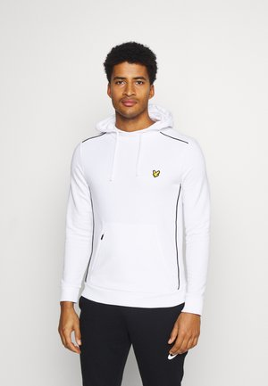 WITH CONTRAST PIPING - Hoodie - white