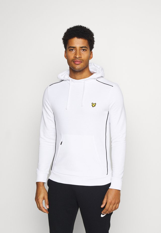 HOODIE WITH CONTRAST PIPING - Mikina - white