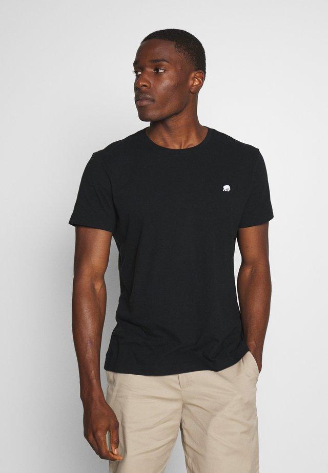 LOGO SOFTWASH TEE - T-shirt basic - black