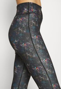Even&Odd active - Leggings - black/rose/multicoloured - 4