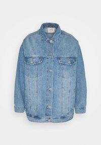 Simply Be - OVERSIZED EX BOYFRIEND JACKET  - Short coat - blue vintage/bleach - 0