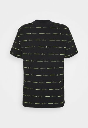 HORIZONTAL BRANDED STRIPE  - T-shirt print - black