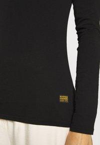 G-Star - CORE EYBEN SLIM U T WMN L\S - Long sleeved top - black - 5