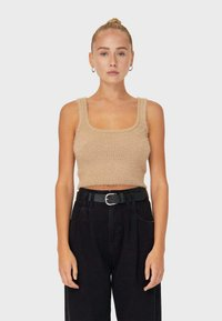Stradivarius - Top - beige - 0