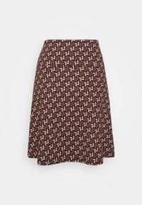 King Louie - BORDER SKIRT NOSHI - A-line skirt - henna red - 1