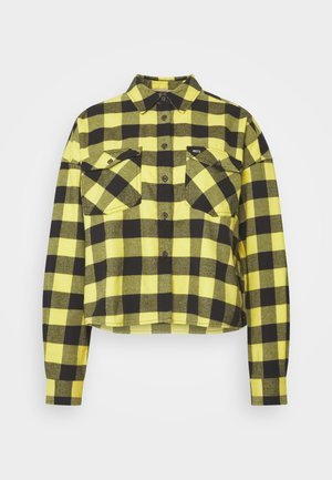 GINGHAM CHECK  - Button-down blouse - star fruit yellow/black