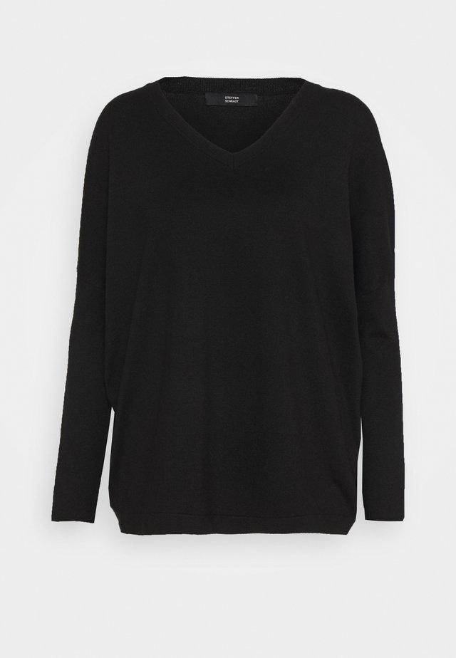 FAVORTITE NECK SPECIAL - Strikpullover /Striktrøjer - black
