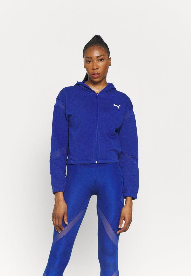 Puma - PAMELA REIF X PUMA FULL ZIP HOODIE - Zip-up sweatshirt - mazerine blue