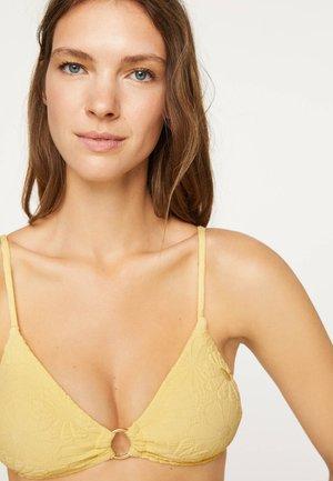 FLORAL  - Bikini top - yellow