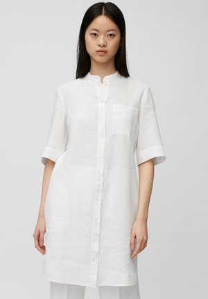 Shirt dress - white linen