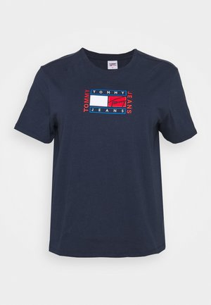 TIMELESS FLAG TEE - Print T-shirt - twilight navy