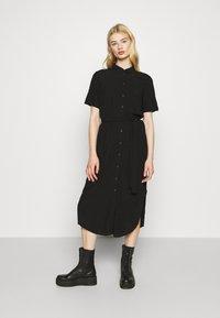 Pieces - PCCECILIE DRESS - Shirt dress - black - 0