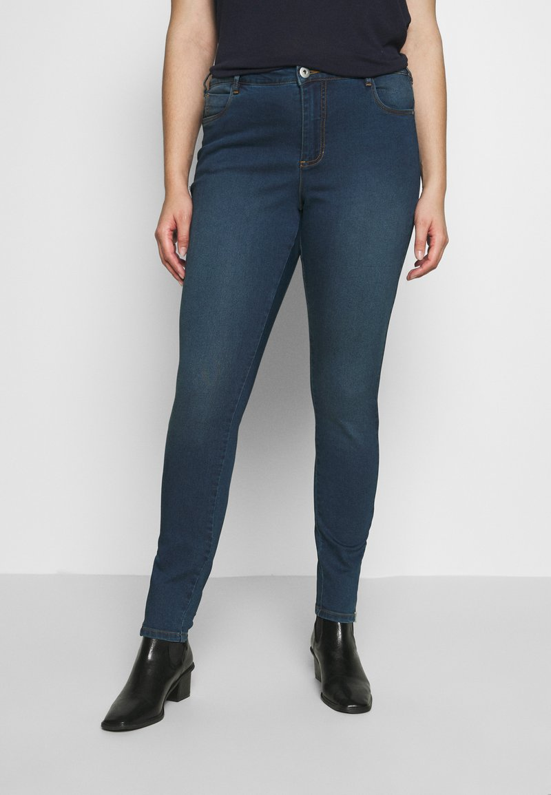 Zizzi - AMY  WITH ZIP DETAIL - Jeans Skinny Fit - blue denim