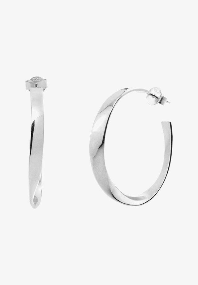 CURLED  - Earrings - plata