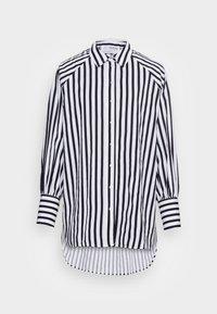 Selected Femme - SLFTILDA LS LONG SHIRT STRIPE - Button-down blouse - black - 3