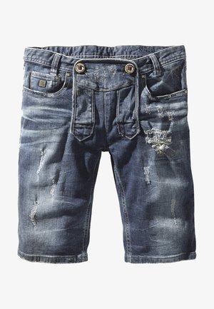 Denim shorts - flintstone aged