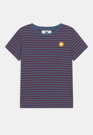 OLA UNISEX - Print T-shirt - blue/dark red