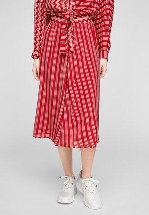 A-line skirt - true red aop