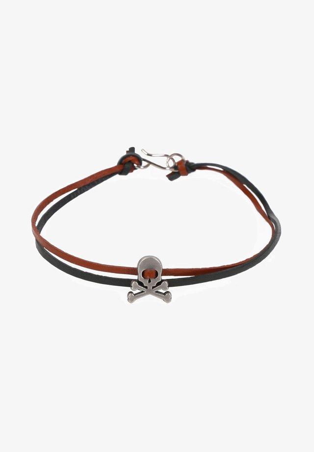 SKULL  - Bracelet - navy/brown