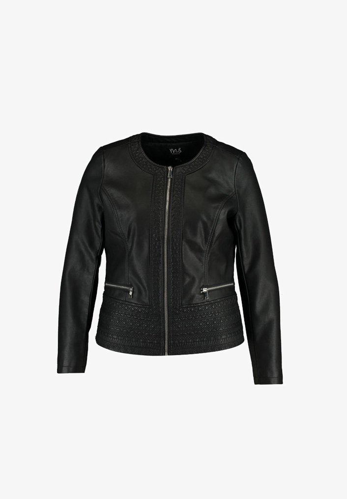 MS Mode - Faux leather jacket - black
