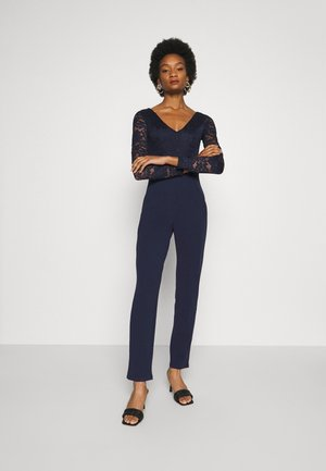 OCCASION - LONG SLEEVES LACE TOP JUMPSUIT - Jumpsuit - maritime blue