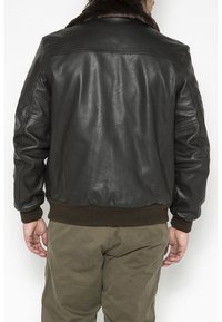 Schott - Leather jacket - marron - 0