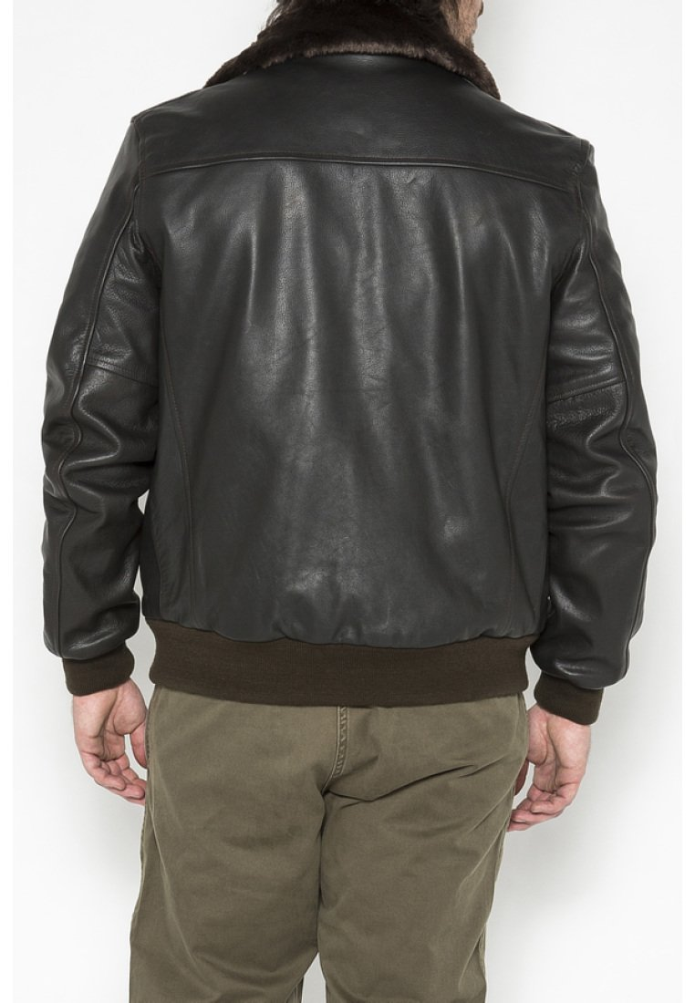Schott - Leather jacket - marron