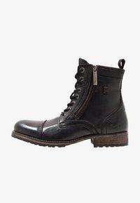 Pepe Jeans - MELTING ZIPPER NEW - Bottines à lacets - black - 0